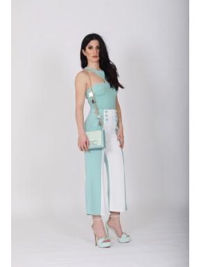 ELISABETTA FRANCHI - Pantalone bicolore
