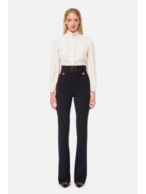 Pantalone skinny con logo Elisabetta Franchi - ELISABETTA FRANCHI