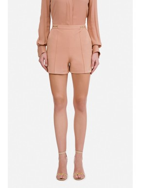 Shorts in ottoman con morsetto logato - ELISABETTA FRANCHI