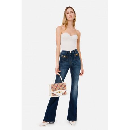 Jeans a zampa Elisabetta Franchi - ELISABETTA FRANCHI